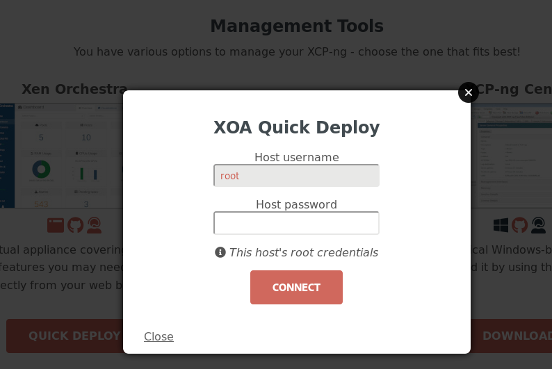 XOA Quick deploy