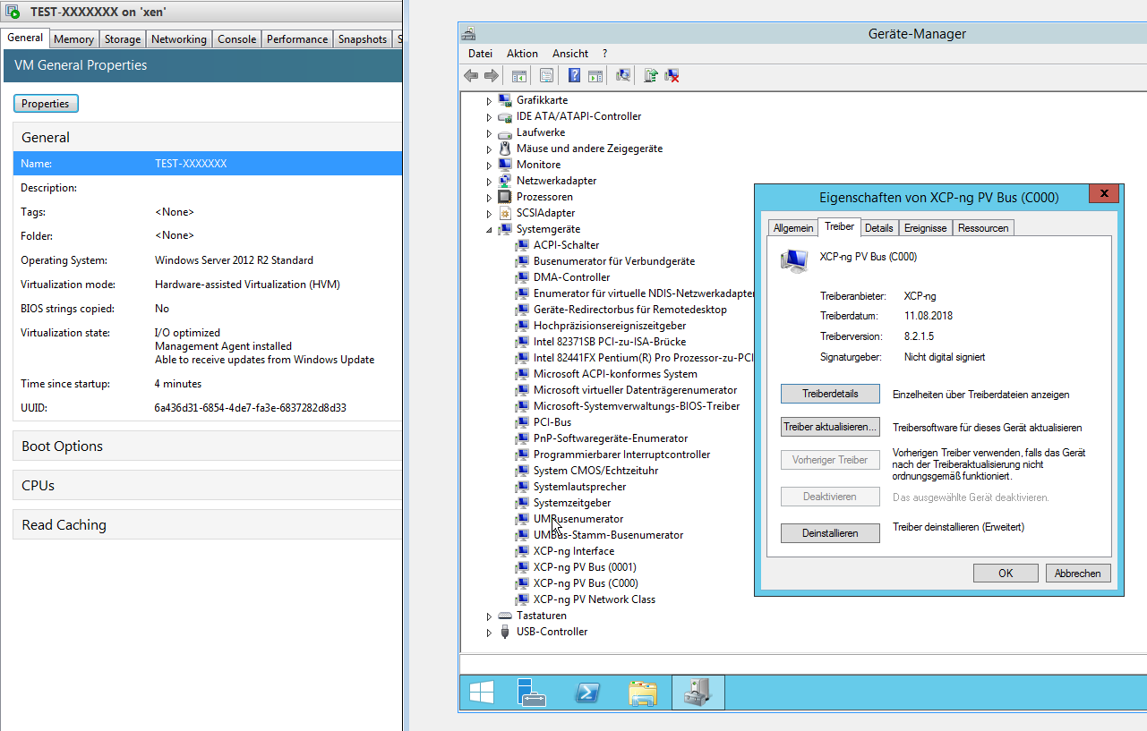 Test] XCP-ng 7 5 0 Windows PV-Drivers and Management Agent
